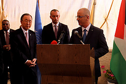 21.10.2015, Ramallah, PSE, Nahostkonflikt zwischen Israel und Palästina, UN Generalsekretär Ban Ki Moon, im Bild UN Generalsekretär Ban Ki Moon besucht Palästinensischen Autonomiegebiete // Palestinian Prime Minister Rami Hamdallah gives a speech during a ceremony marking the 70th anniversary of the founding of United Nations in the West Bank city of Ramallah, October 21, 2015, Palestine on 2015/10/21. EXPA Pictures © 2015, PhotoCredit: EXPA/ APAimages/ Prime Minister Office<br /> <br /> *****ATTENTION - for AUT, GER, SUI, ITA, POL, CRO, SRB only*****