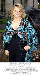 Artist TESSA CAMPBELL FRASER at an exhibition in London on 6th Aprl 2004.<br /> PTD 30