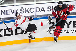 Philippe Furrer of Switzerland vs Wayne Simmonds of Canada during the 2017 IIHF Men's World Championship group B Ice hockey match between National Teams of Canada and Switzerland, on May 13, 2017 in AccorHotels Arena in Paris, France. Photo by Vid Ponikvar / Sportida