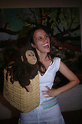 Nina Conti with 'The Monkey'40th anniversary party. Modern Art Oxford. 14 July 2005. ONE TIME USE ONLY - DO NOT ARCHIVE  © Copyright Photograph by Dafydd Jones 66 Stockwell Park Rd. London SW9 0DA Tel 020 7733 0108 www.dafjones.com