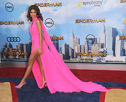 June 28, 2017 - Los Angeles, California, United States - June 28th 2017 - Los Angeles, California  USA - Actress ZENDAYA    at the ''Spider-Man:Homecoming'' Premiere  held at the TCl Chinese Theater, Hollywood, CA. (Credit Image: © Paul Fenton/ZUMA Wire)