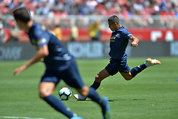 July 22, 2018 - Santa Clara, California, United States - Santa Clara, CA - Sunday July 22, 2018: Alexis Sanchez during a friendly match between the San Jose Earthquakes and Manchester United FC at Levi's Stadium. (Credit Image: © John Todd/ISIPhotos via ZUMA Wire)