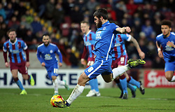 Michael Bostwick of Peterborough United scores from the panalty spot to make it 0-2 - Mandatory byline: Joe Dent/JMP - 07966 386802 - 28/11/2015 - FOOTBALL - Glanford Park - Scunthorpe, England - Scunthorpe United v Peterborough United - Sky Bet League One