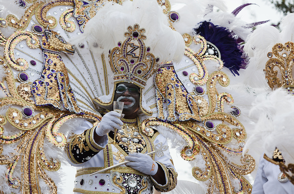 King of the Zulu parade making a toast near the end of the parade. Mardi Gras 2011 in New Orleans is expected to be have the largest attendance of all time due to the dates overlapping with college spring break. Mardi Gras also known as Carnival begins on or after Epiphany and ending on the day before Ash Wednesday.