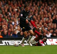 Ruud Van Nistelrooy Manchester United/ Patrick Vieira Arsenal<br />Arsenal V Manchester United 21/05/05<br />The F/A Cup Final<br />Photo Robin Parker Fotosports International