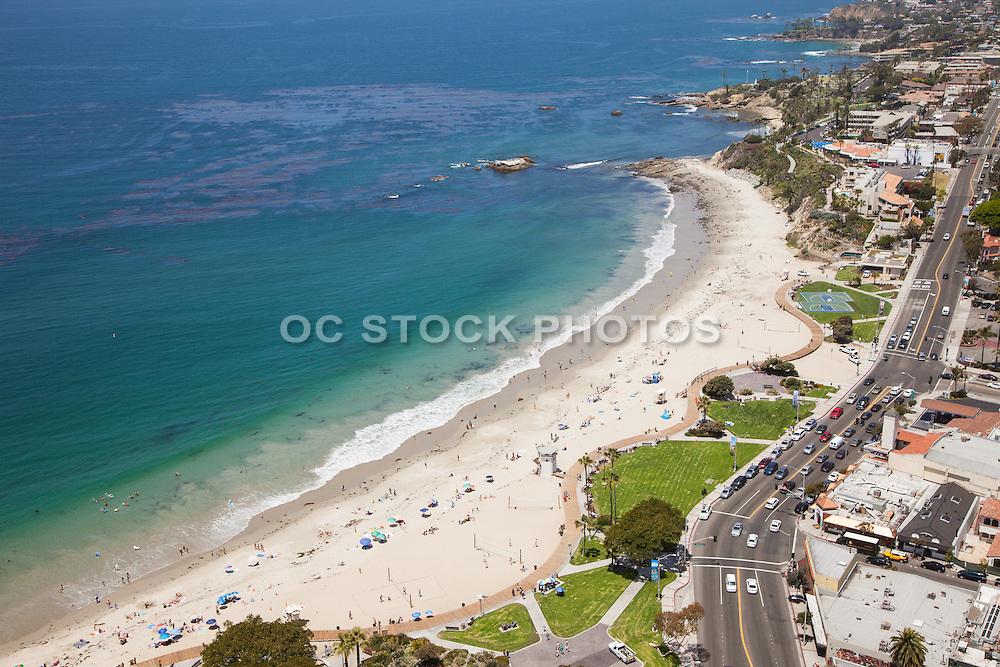 North Facing Aerial Stock Photo of Downtown Laguna Beach