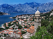 Panoramic view of Kotor and bay, Montenegro
