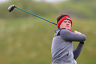 Josh Mackin (Dundalk) on the 18th tee during Round 3 of the Ulster Boys Championship at Donegal Golf Club, Murvagh, Donegal, Co Donegal on Friday 26th April 2019.<br /> Picture:  Thos Caffrey / www.golffile.ie