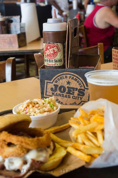 Zman brisket sandwich at Joe's Kansas City. Kansas City, Missouri.