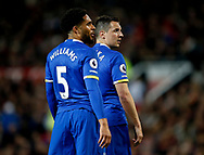 Ashley Williams of Everton and Phil Jagielka of Everton during the English Premier League match at Old Trafford Stadium, Manchester. Picture date: April 4th 2017. Pic credit should read: Simon Bellis/Sportimage