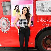 Claudia Sowaha attend Celeb Bri Tea, on board the BB Bakery bus on 22 March 2019, London, UK.