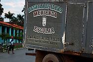 Milk truck in Vinales, Pinar del Rio, Cuba.