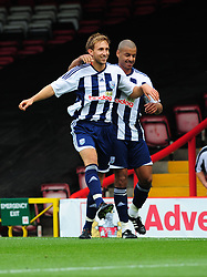 West Bromwich Albion's Craig Dawson  celebrates scoring the only goal of the game - Photo mandatory by-line: Joseph Meredith / JMPUK - 30/07/2011 - SPORT - FOOTBALL - Championship - Bristol City v West Bromwich Albion - Ashton Gate Stadium, Bristol, England
