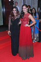 DJ Neev & DJ Lora, Asian Achievers Awards 2014, Grosvenor House Hotel, London UK, 19 September 2014; Photo By Brett D. Cove