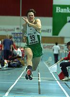 Athletics, Ungdomsmesterskapet (UM) i Stangehallen 2-4 februar 2001. Ole Kristian Landsverk We, Snøgg, hoppwet tresteg i klassen 19-22 år.