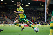 Norwich City defender Jamal Lewis (12) on the ball during the EFL Sky Bet Championship match between Norwich City and Queens Park Rangers at Carrow Road, Norwich, England on 6 April 2019.