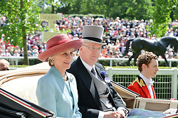 The DUKE & DUCHESS OF GLOUCESTER at the first day of the 2014 Royal Ascot Racing Festival, Ascot Racecourse, Ascot, Berkshire on 17th June 2014.