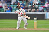 Mark Stoneman of Surrey avoids a short ball during the opening day of the Specsavers County Champ Div 1 match between Somerset County Cricket Club and Surrey County Cricket Club at the Cooper Associates County Ground, Taunton, United Kingdom on 18 September 2018.