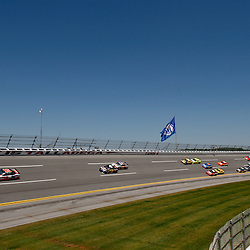 April 17, 2011; Talladega, AL, USA; NASCAR Sprint Cup Series driver Clint Bowyer (33) leads a pack of cars during the Aarons 499 at Talladega Superspeedway.   Mandatory Credit: Derick E. Hingle