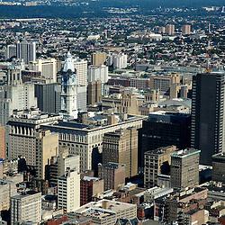 Aerial view of City Hall  Philadelphia, Pennsylvania