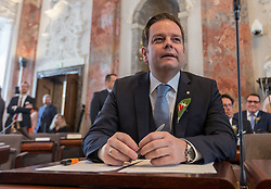 28.03.2018, Altes Landhaus, Innsbruck, AUT, konstituierende Sitzung, Tiroler Landtag, im Bild Markus Abwerzger (FPÖ) // during the inaugural session of the Tyrolean state parliament at the Altes Landhaus in Innsbruck, Austria on 2018/03/28. EXPA Pictures © 2018, PhotoCredit: EXPA/ Jakob Gruber