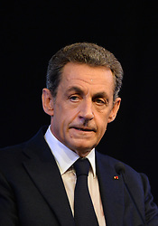 File photo - Nicolas Sarkozy delivers his speech during the 2015 Summer University of French right-wing party Les Rebublicains held at Le Touquet, France on September 12, 2015. A French judge has ordered ex-President Nicolas Sarkozy to stand trial in an illegal campaign finance case. Mr Sarkozy faces accusations that his party falsified accounts in order to hide 18m euros of campaign spending in 2012. Mr Sarkozy denies he was aware of the overspending, and will appeal against the order to stand trial. Photo by Christian Liewig/ABACAPRESS.COM