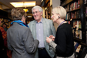 PRUE LEITH; MIKE BLACKBURN; JANE WOOD, Relish: My Life on a Plate by Prue Leith. Hatchards. Piccadilly, London. 14 March 2012.