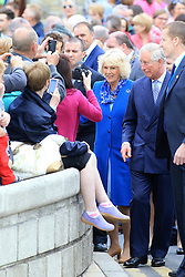 Britain's Prince Charles does a walk-about in Donegal town in the Irish Republic, Wednesday, May 25th, 2016. Prince Charles is on the final day of a 3 trip to Northern Ireland and the Irish Republic. Photo/Paul McErlane © Licensed to London News Pictures. 25/05/2016. Donegal, Ireland, Britain's Prince Charles and the Duchess of Cornwall go walk-about in Donegal town in the Irish Republic, Wednesday, May 25th, 2016. Prince Charles is on the final day of a 3 trip to Northern Ireland and the Irish Republic.  Photo credit: Paul McErlane/LNP