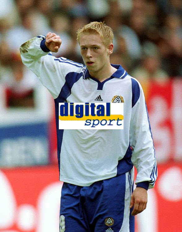 Fotball<br /> VM-kvalifisering<br /> Tyskland v Finland 0-0<br /> 6. november 2001<br /> Foto: Digitalsport<br /> Mikael Forssell, Finland