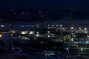 Belo Horizonte_MG, Brasil...Construcao do Centro Administrativo do Governo de Minas Gerais (Cidade Administrativa), o centro foi projetado por Oscar Niemeyer...The construction of the Minas Gerais Administrative Center (Administrative City), projected by Oscar Niemeyer...Foto: LEO DRUMOND / NITRO