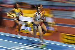 March 2, 2018 - Birmingham, England, United Kingdom - Laura Muir ofGreat Britain at 1500 meter semi final at World indoor Athletics Championship 2018, Birmingham, England on March 2, 2018. (Credit Image: © Ulrik Pedersen/NurPhoto via ZUMA Press)