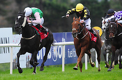 Maze Runner and jockey Colin Keane (left) win the John Mulholland Bookmakers Handicap during day three of the October Festival at Galway Racecourse.
