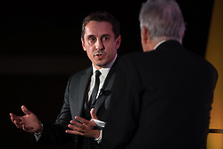 © Licensed to London News Pictures . 10/11/2016 . Manchester , UK . Footballer turned property developer GARY NEVILLE being interviewed by Nick Owen at the Manchester Business Awards at the Midland Hotel . Photo credit : Joel Goodman/LNP