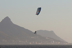 Aaron Hadlow of Britain in action during the Red Bull King of the Air kiteboarding competition held at Big Bay in Cape Town, South Africa on the 2nd February 2017.<br /> <br /> Photo by Shaun Roy<br /> <br /> Fee Bearing Image