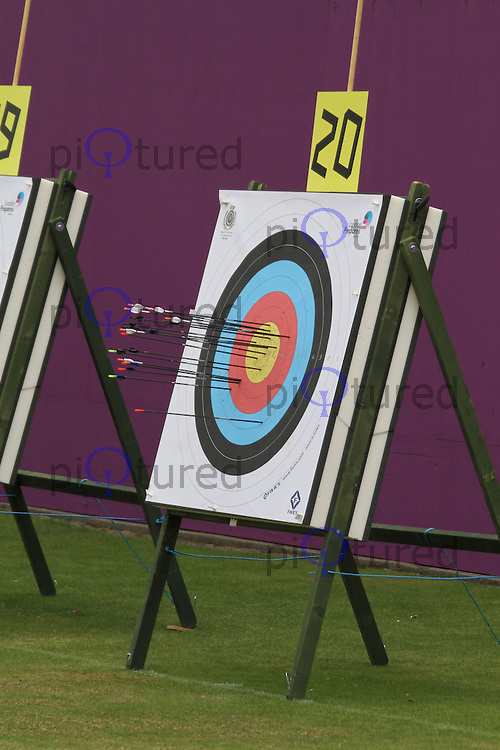 London Archery Classic 2011 - London 2012 Olympics Sports Testing Programme, Lord's Cricket Ground, London, UK. 08 October 2011. Contact: Rich@Piqtured.com +44(0)7941 079620 (Picture by Richard Goldschmidt)