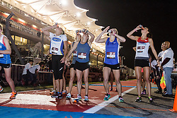 Beer Mile World Championships, Inaugural, Women's Elite race, first beer