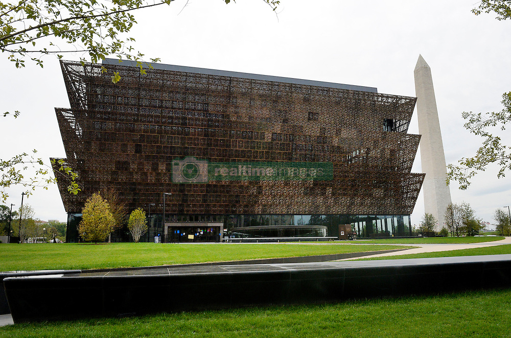 Outside view of the Smithsonian National Museum of African American History and Culture on September 21, 2016 in Washington, DC.The National Museum of African American History and Culture will open on Sept. 24 in Washington thirteen years since Congress and President George W. Bush authorized its construction, the 400,000-square-foot building stands on a five-acre site on the National Mall, close to the Washington Monument. President Obama will speak at its opening dedication.Photo by Olivier Douliery/Abaca