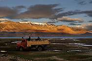 Ladakh, Tso Moriri - one of the giant himalayan lakes situated at the altitude over 4600 meters above sea level.