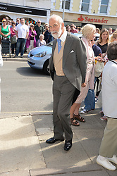 PRINCE MICHAEL OF KENT at the wedding of Lady Natasha Rufus Isaacs to Rupert Finch held at St.John The Baptist Church, Cirencester, Gloucestershire, UK on 8th June 2013.