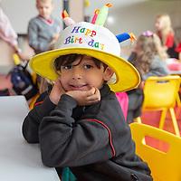 Adam Nedjari celebrates his 5th Birthday on his First day at Ennis National School