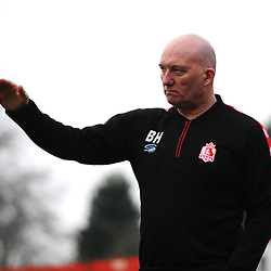TELFORD COPYRIGHT MIKE SHERIDAN Alfreton boss Billy Heath during the Vanarama Conference North fixture between AFC Telford United and Alfreton Town at The Impact Arena on Wednesday, January 1, 2020.<br /> <br /> Picture credit: Mike Sheridan/Ultrapress<br /> <br /> MS201920-038