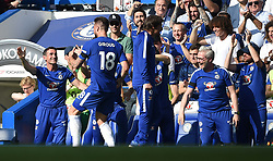 Chelsea's Olivier Giroud celebrates scoring his side's first goal of the game