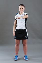 Umpire Kate Stephenson signalling ordering off