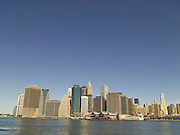 view of downtown New York from downtown Brooklyn