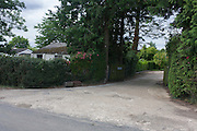 Entrance to the former hospital grounds, once a wartime medical centre for the airfield at Shipdam, the home of the B-24 Liberators of the 44th Bomber Group of the US Air Force during the second world war.