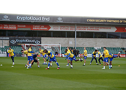 Players warm up - Mandatory by-line: Matt Bunn/JMP - 10/10/2020 - FOOTBALL - LNER Stadium - Lincoln, England - Lincoln City v Bristol Rovers - Sky Bet League One