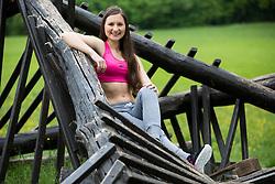 Ula Hvala posing during official photo shoot of Miss Sporta Slovenije 2016, on April 23, 2016 in Tivoli, Ljubljana, Slovenia. Photo by Vid Ponikvar / Sportida