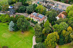 EXCLUSIVE Aerial view of George Clooney's reported new marital home in the UK. This is the £7.5M (GBP) home Clooney is rumoured to have bought as a wedding present for wife Amal Alamuddin in the county of Berkshire. The palatial manor house sits on its own island in the River Thames and comes complete with its own boat house and spa. Local residents have dubbed the house Clooney Manor.<br /> <br /> 11 October 2014.<br /> <br /> Please byline: Hamilton/Vantagenews.co.uk