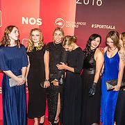 NLD/Amsterdam/20161221 - NOC*NSF Sportgala 2016, handbal dames ploeg