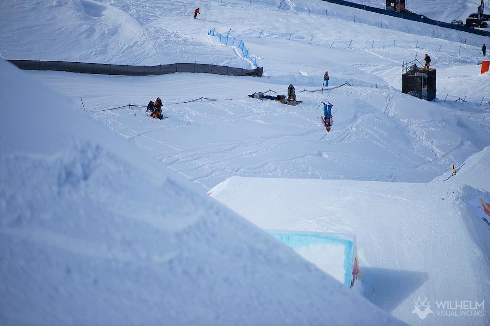 Jamie Crane-Mauzy during Women's Ski Slopestyle Finals at the 2013 X Games Tignes in Tignes, France. ©Brett Wilhelm/ESPN